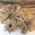 Handmade burlap flowers that are easy and affordable