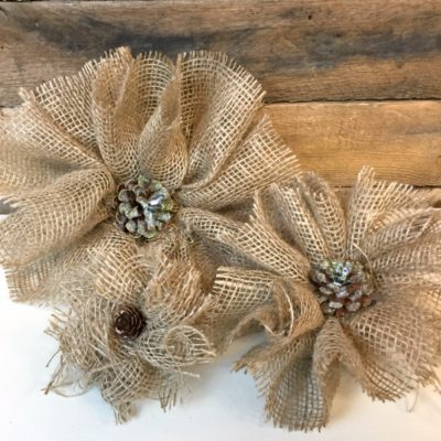 Handmade Burlap Flowers That Are Easy & Affordable
