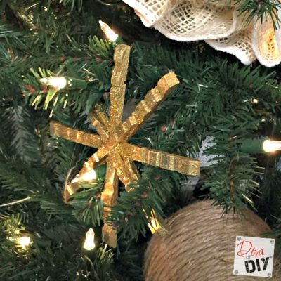 Make Your Own DIY Clothespin Snowflake Ornaments