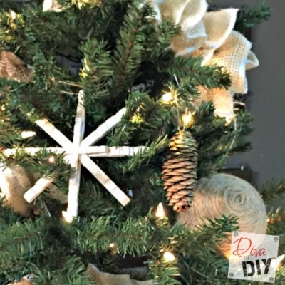 DIY Rustic Dipped Pinecone Ornaments