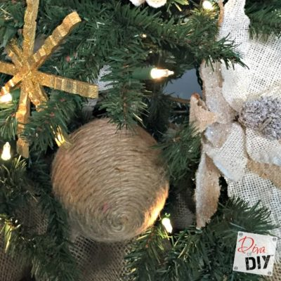 Jute Christmas Ornaments that are Quick and Easy