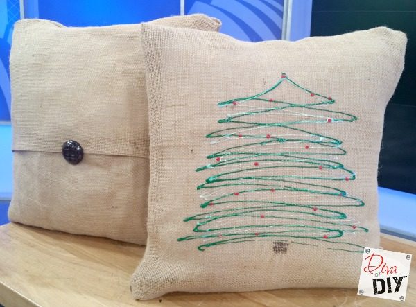 Easy No Sew Diy Burlap Pillow Covers Decorative Are Perfect For Holiday Decorating