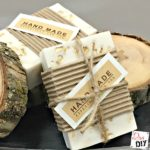 This easy handmade soap combines honey and oats in goats milk soap of for a quick elegant DIY gift! Easy homemade soap packaging makes it ready to gift!