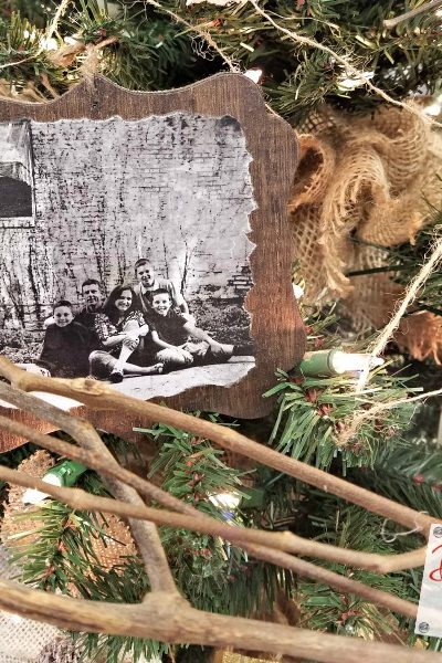 Handmade Wooden Ornaments with Photos