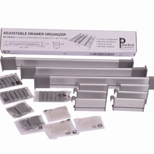 Adjustable drawer organizer to hold everything
