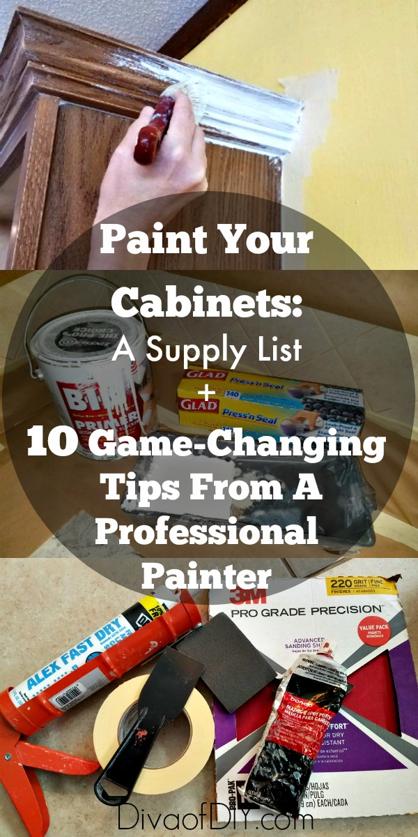 Painting Cabinets Supplies To Paint Your Cabinets Like A Pro Diva Of Diy