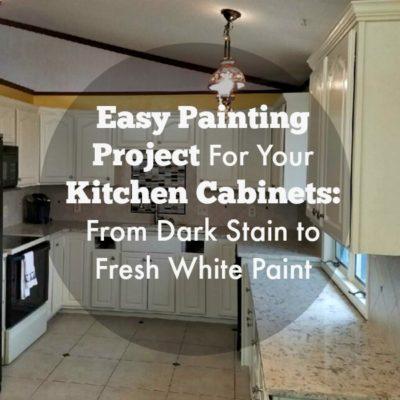 Easy Painting Project For Your Kitchen Cabinets | Dark Cabinets to White Cabinets
