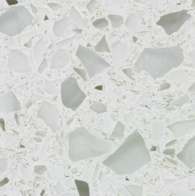 recycled glass countertop option