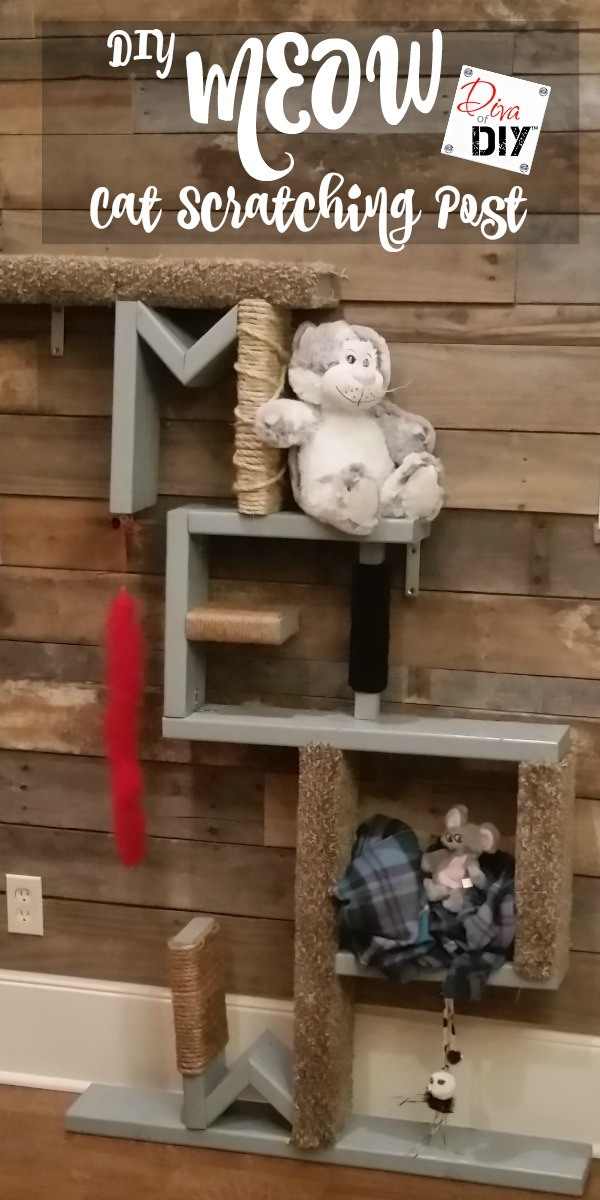 Attention Cat lovers! Let me show you how to make cat scratching diy shelves! This homemade cat scratching post idea for the wall! Awesome Cat DIY project!