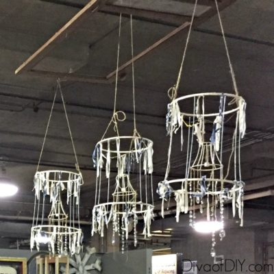 Make This Deconstructed Shabby Chic Chandelier