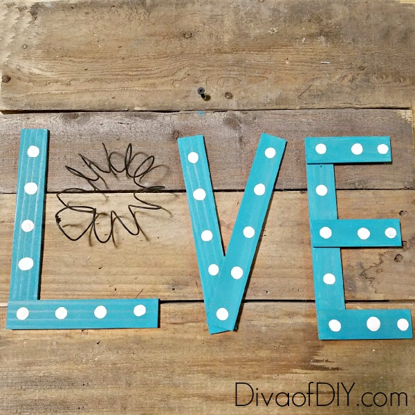 DIY Wooden Letters for a Reclaimed Wood Love Sign