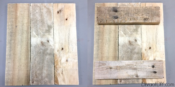 Diy Picture Frame Made Out Of Pallet Wood Diva Of Diy