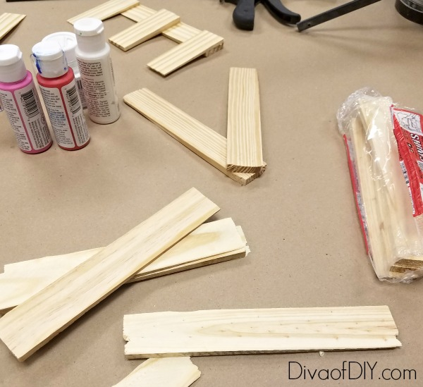 Diy wooden letters for a reclaimed wood love sign diva for Making wooden letters