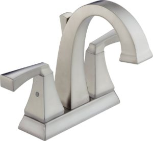 This centerset faucet is an easy update for your bathroom vanity