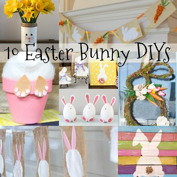 Easter Crafts are the perfect way to make memories! These 10 Easter decorations DIYs have Wreath DIYs, Rustic decor, Kids craft, Banner DIY, Decor and more!