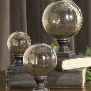 These glass globe finials would look stunning on your farmhouse table