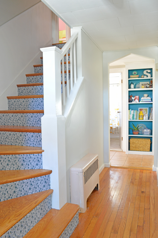 Fabric Staircase Risers From Plaster And Disaster.