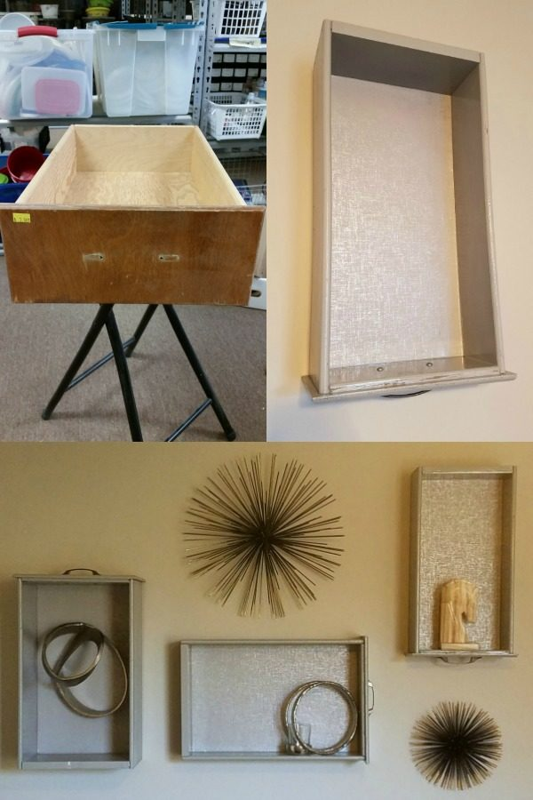 create stylish shelves out of drawers