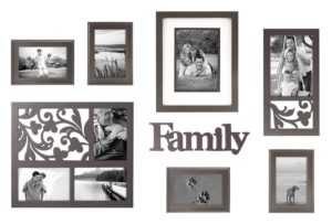 Create the perfect gallery wall with this family frame set