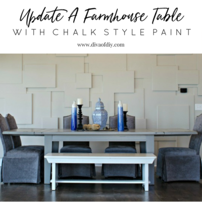 How To Update A Farmhouse Table With Paint