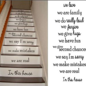 Staircase ideas: These removable vinyl staircase quotes make such a statement when you walk in the door