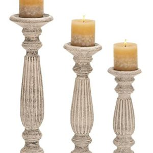 These tall rustic candleholders will look amazing on your farmhouse table