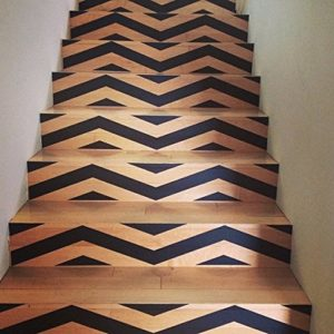 staircase ideas: Add a sense of style with these removable chevron stair riser decals