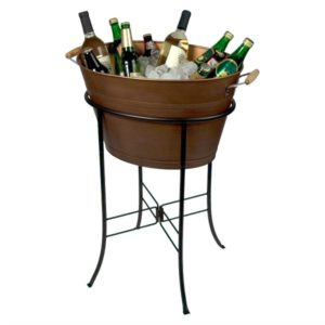 This bronze bar tub is perfect for entertaining on our stylish outdoor patio