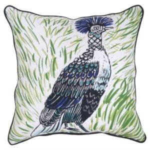 This bird pillow is the perfect accessory for our stylish outdoor patio set