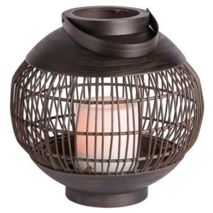 This lantern is perfect for our stylish outdoor patio