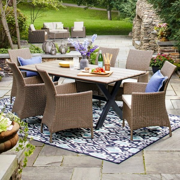 create a stylish outdoor patio