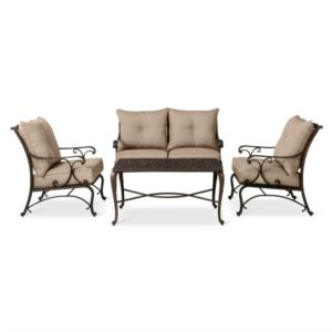 This 4 piece conversation group is perfect for a stylish outdoor patio