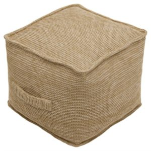 This poufs add extra seating for our stylish outdoor patio