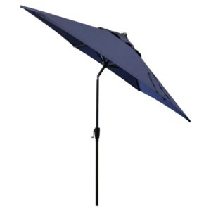 This navy umbrella will keep your stylish outdoor patio cool on those hot days