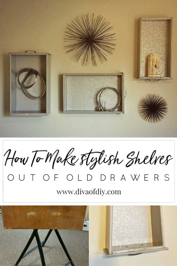 how to create stylish shelves out of old drawers