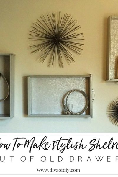 How To Make Stylish Shelves Out Of Old Drawers