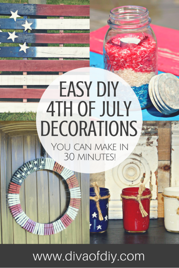4th of July Decorations you can make in less than 30 minutes.