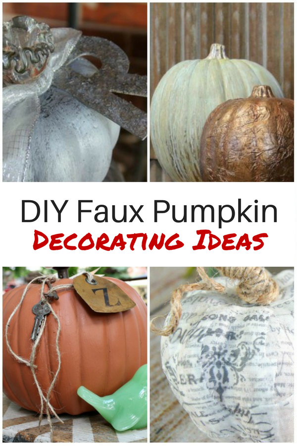 DIY Faux Pumpkin Decorating Ideas