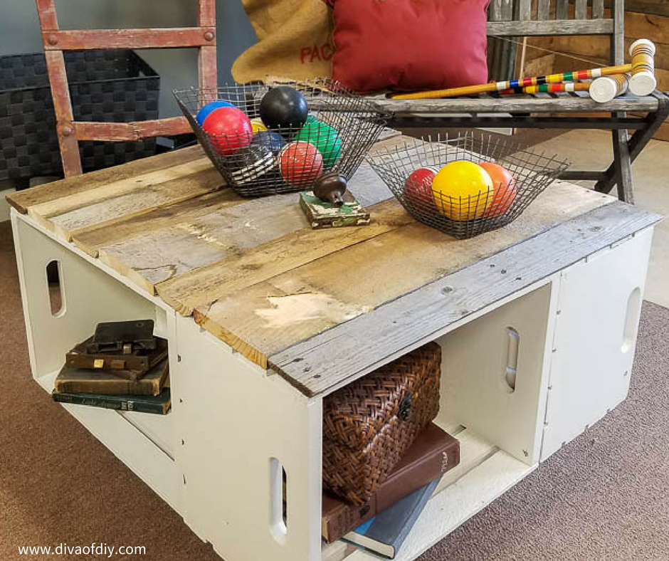 DIY Home Decor Easy Coffee Table With Storage