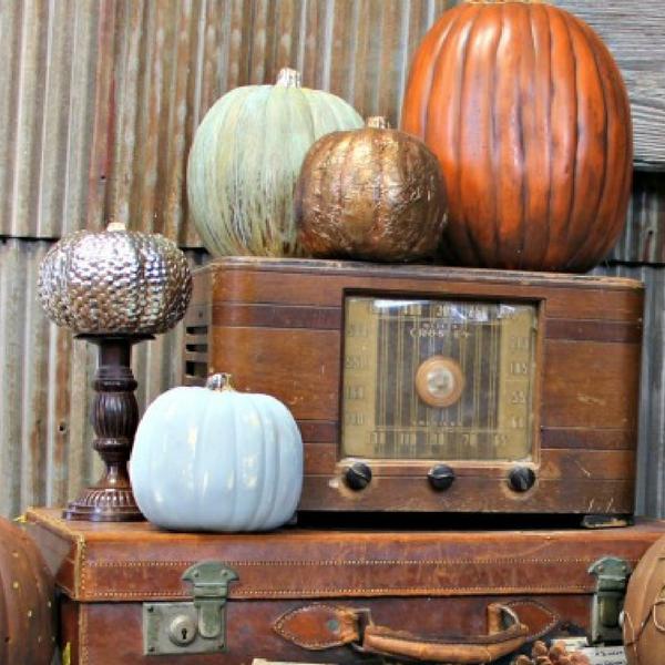 Diy Fabulous Faux Pumpkin Decorating Ideas For Fall