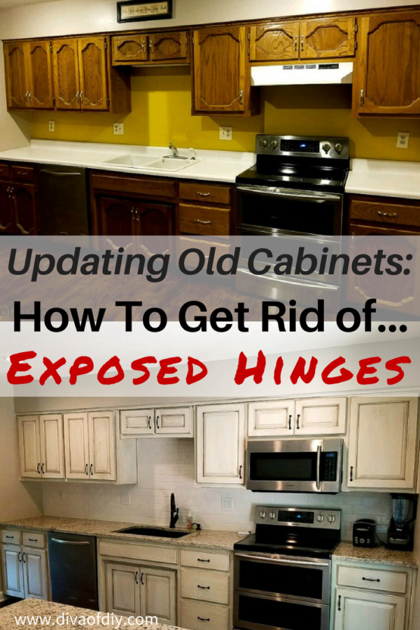 updating old cabinets how to get a modern look diva of diy