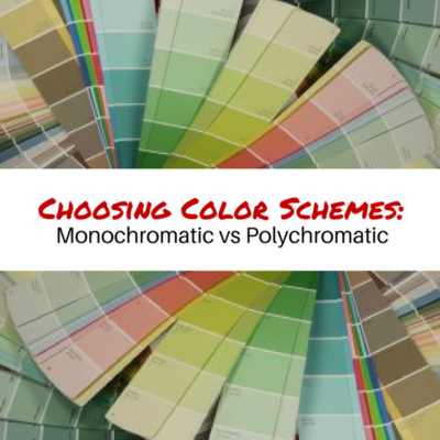 Choosing color schemes: Monochromatic vs Polychromatic