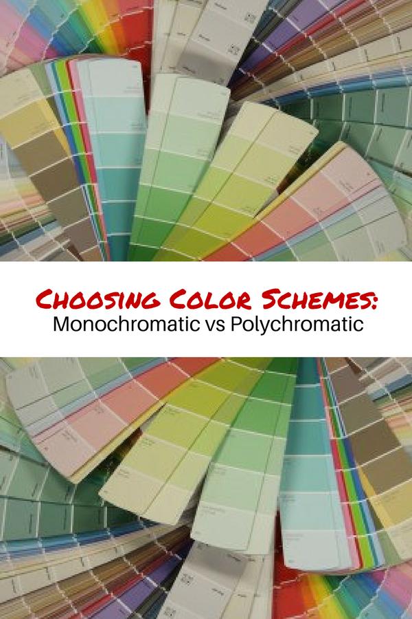 Choosing Color Schemes Monochromatic Vs Polychromatic