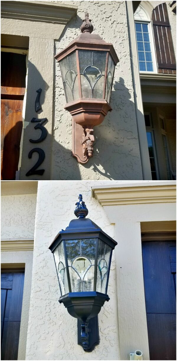how to paint a light fixture
