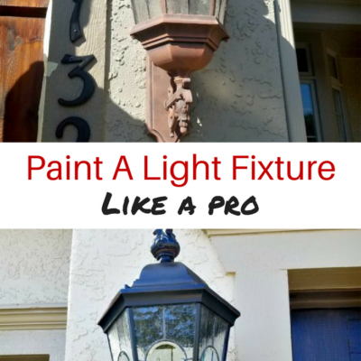 How To Paint A Light Fixture Like A Pro