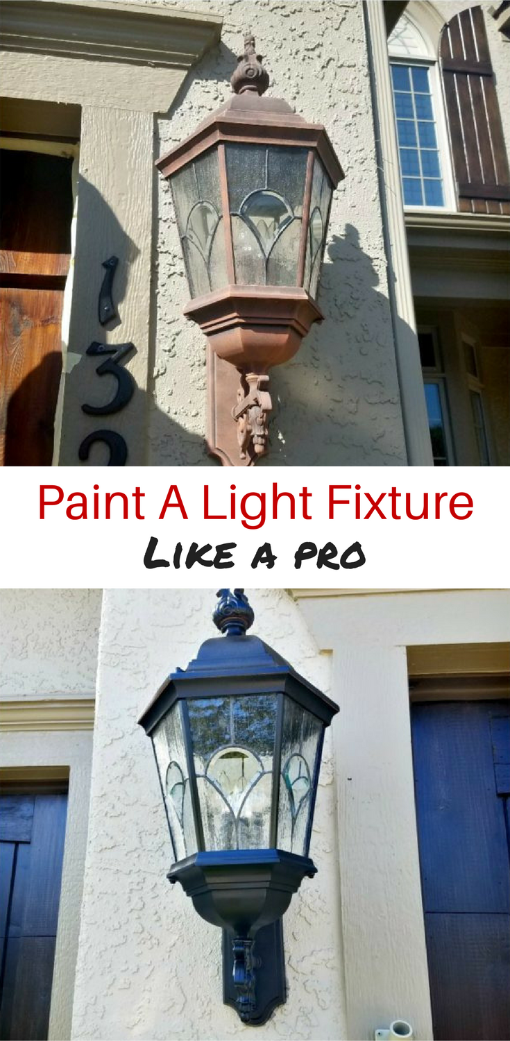 How To Paint A Light Fixture Like A Pro Diva Of Diy