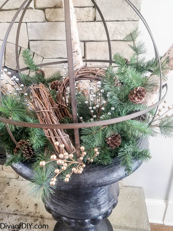 8 Quick & Easy Steps To a Stunning DIY Christmas Planter
