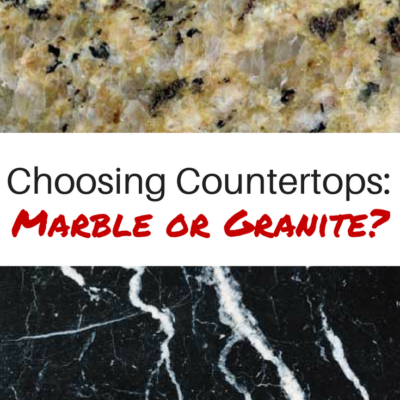 Choosing new counter tops: Marble or Granite?