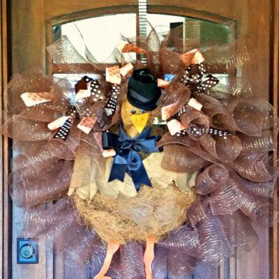 How To Make Festive Thanksgiving Door Decor