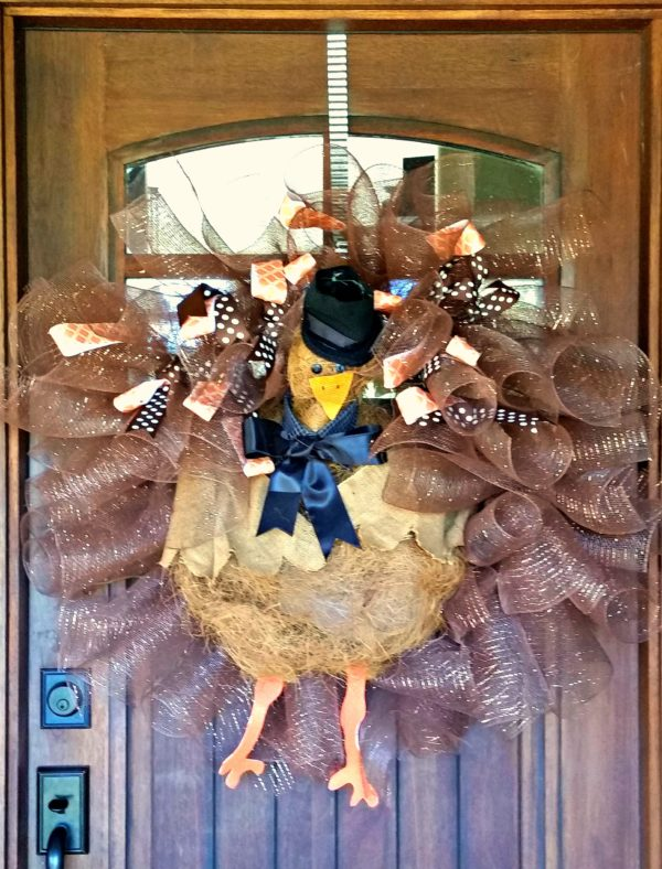 How To Make Festive Thanksgiving Door Decor